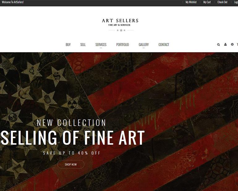 Art Sellers new website