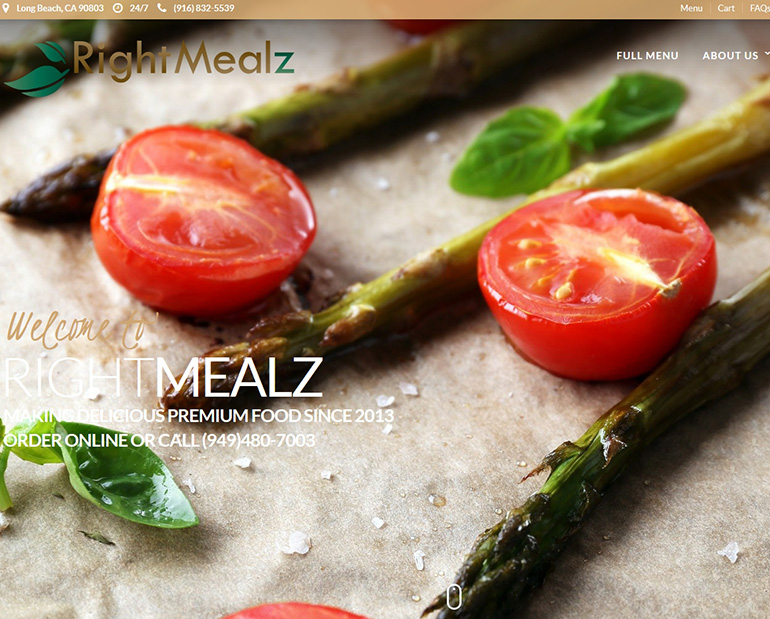 Right Mealz new website