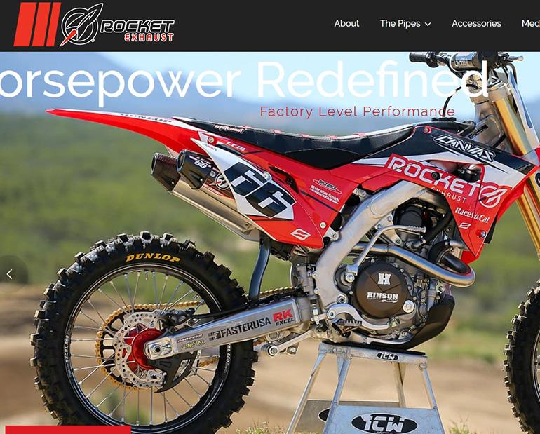 Rocket Exhaust website by Web & Vincent