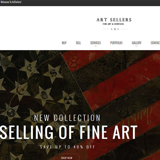 Art Sellers website by Web & Vincent
